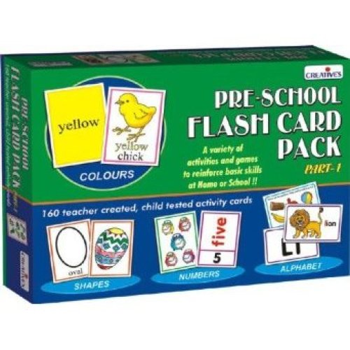 Creative Pre-school Flash Card Pack 1 Educational Activity - Preschool Cre0512 -  creative preschool flash card pack 1 educational cre0512