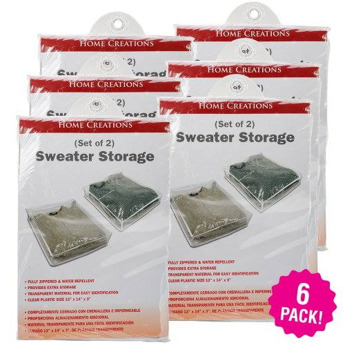 """Innovative Home Creations Sweater Storage Bags 2Pc 6/Pk-12""""X14""""X3"""""""