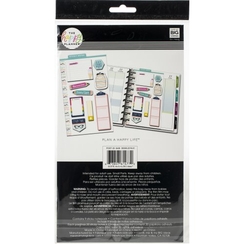 Happy Planner Sticky Notes 180/Pkg-Get Things Done (student)