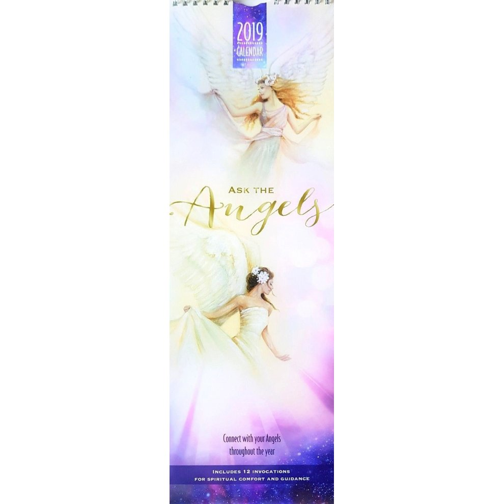 2019 Ask The Angels Slim Wall Calendar Christmas Birthday Gift Inspirational Motivational Quotes Quotations Inspiring
