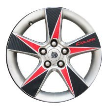 Wheel Stickers Refit Car Decal Wheels Decal BLACK RED