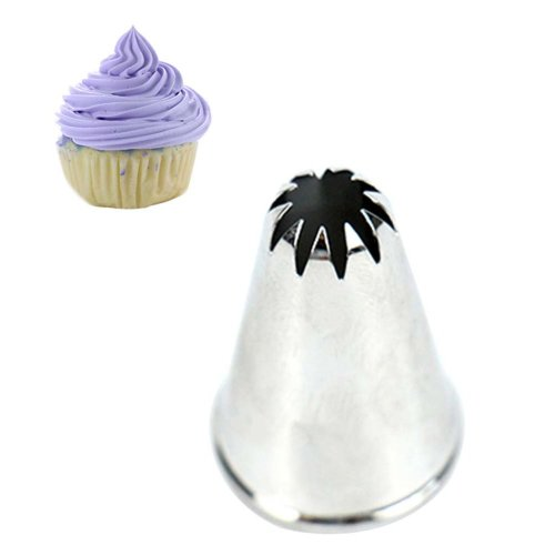 5 pieces Cake Decorating Tools Stainless Steel Pastry Tube Cake Icing Nozzles, #006