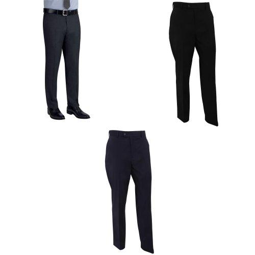 Brook Taverner Mens Cassino Slim Fit Formal Work/Suit Trousers