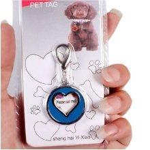Heart Style Pendant Dog Name Tag Dog ID Tag Cat ID Tag