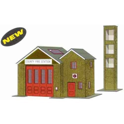 Superquick B36 Country Fire Station - Card Kit
