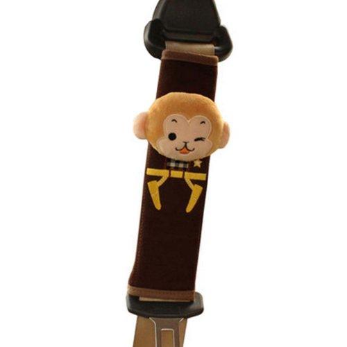 1 Pairs of Safety Belt Sets Automotive Interior Seat Belt Shoulder Pad,Monkey