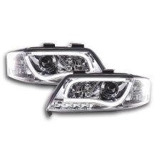 Daylight headlight  Set with DRL Audi A6 type 4B Year 97-01 chrome