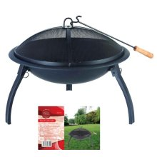 Barbeque Fire Pit With Grill -  fire pit patio garden bowl bbq outdoor round heater camping grill log redwood steel