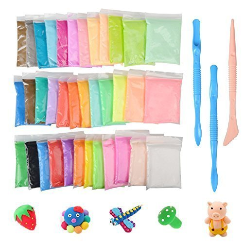 Diy Fluffy Slime Kit Togather 36 Color Putty Floam Slime Stress Relief Toys No Borax Gift For Adults And Children
