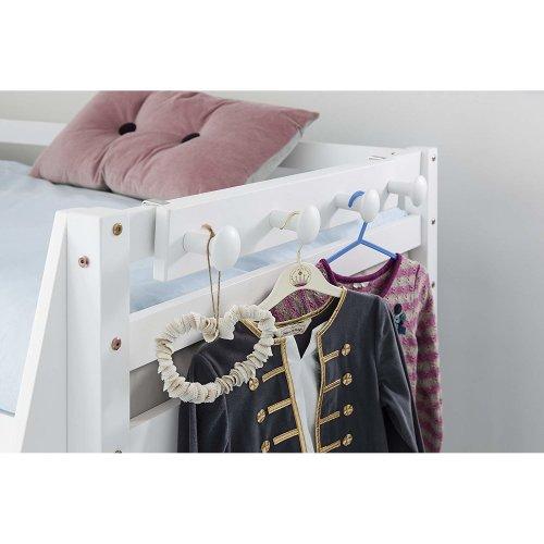 SoBuy® FHK10-W, Coat Rack Hook Hanger for Bunk Bed Cabin Bed, Wall Coat Rack