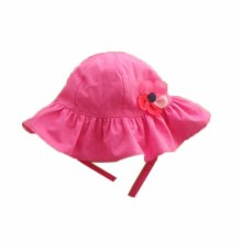Summer Baby Girl Caps Cotton Sun Hat For 2-3 Years Baby Rose Red