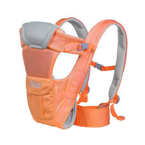 Soft Polyester Baby Carrier Child Baby Holding Belt Breathe Freely Orange