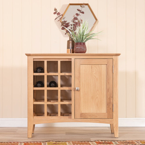 Malvern Shaker Oak Wine Cabinet