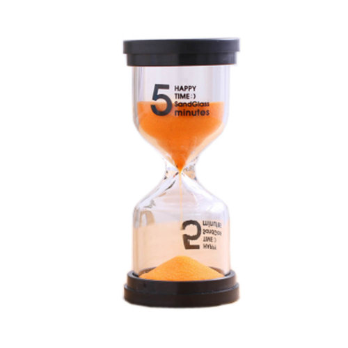 Colorful Sand Timer Hourglass Sandglass Small Ornaments Dropping Ueasily, 5 minutes + Orange