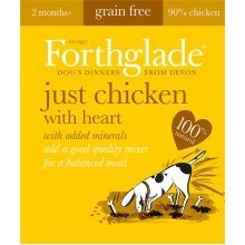 FORTHGLADE NATURAL MENU Dog Food CHICKEN With HEART 18 x 395g trays Grain Free