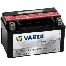 Varta Motorcycle Battery Powersports AGM YTX7A-4 / YTX7A-BS