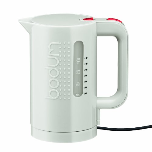 Bodum Bistro Electric Water Kettle, 1.0 Litre, 1300 Watt, White