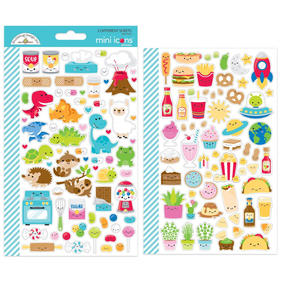 5a0e28b479270 Doodlebug Mini Cardstock Stickers-So Much Pun Icons