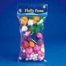 Pbx2470039 - Playbox - Fluffy Poms (glitter ) - 100 Pcs