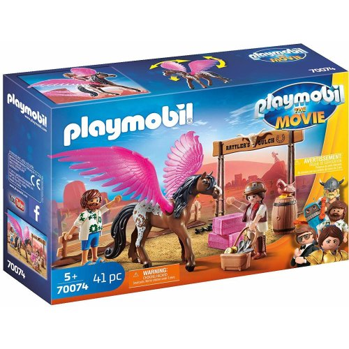 Playmobil 70074 The Movie Marla and Del with Flying Horse