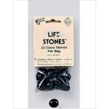 Black Glass Gaming Stones 20ct