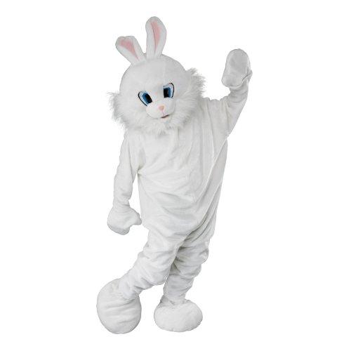 Adult's White Bunny Mascot Costume -  bunny fancy dress mascot costume adult rabbit easter white jumbo book FANCY DRESS ADULT EASTER BUNNY WHITE