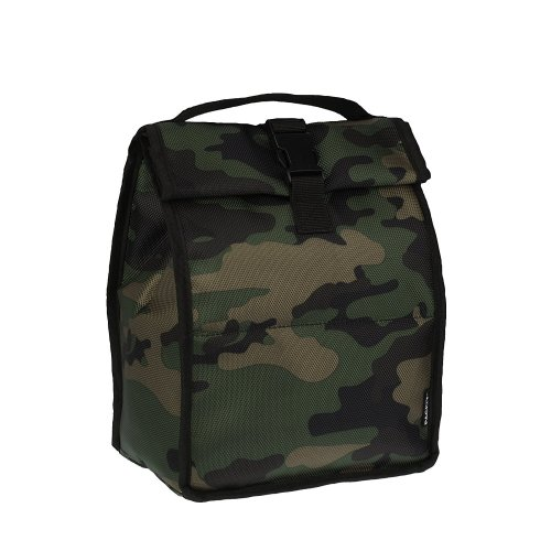 PackIt Camo Freezable Lunch Bag | Roll Top Personal Cooler