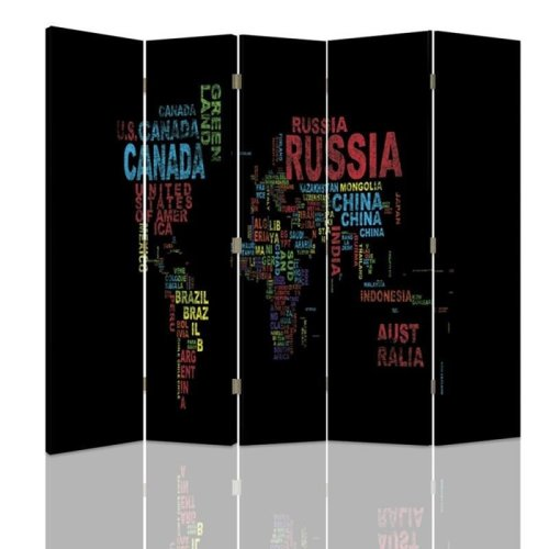 World Map Screen/Room Divider