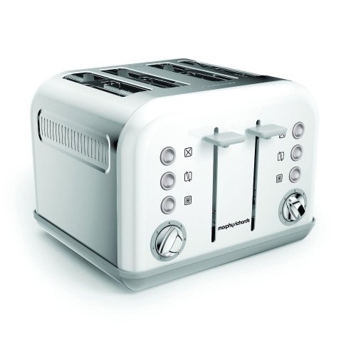 Morphy Richards Accents 4 Slice Toaster With Browning Control  - White (242032)