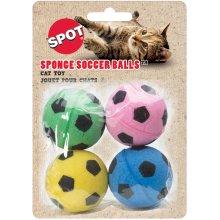 """Sponge Soccer Balls 1.5"""" 4/Pkg-Assorted"""