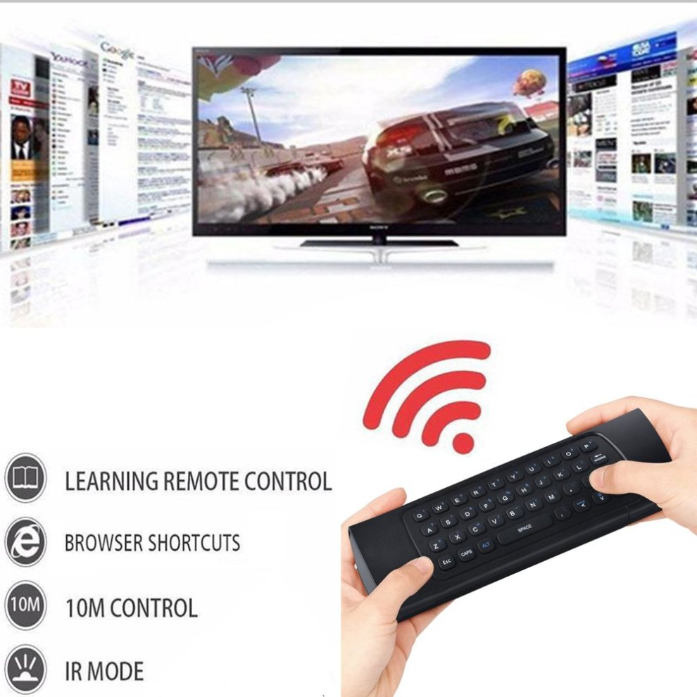 HOTSO MX3 Air Mouse 2 4GHz Wireless Keyboard For Google Android Mini PC TV  Box, Smart TV, PC, HTPC, Windows, Mac OS, Linux, IPTV, HTPC, Raspberry