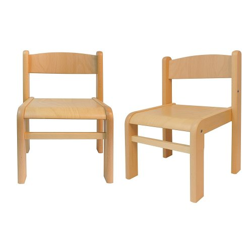 Children's Furniture Beech Wood 2 Children's Chairs without Armrests