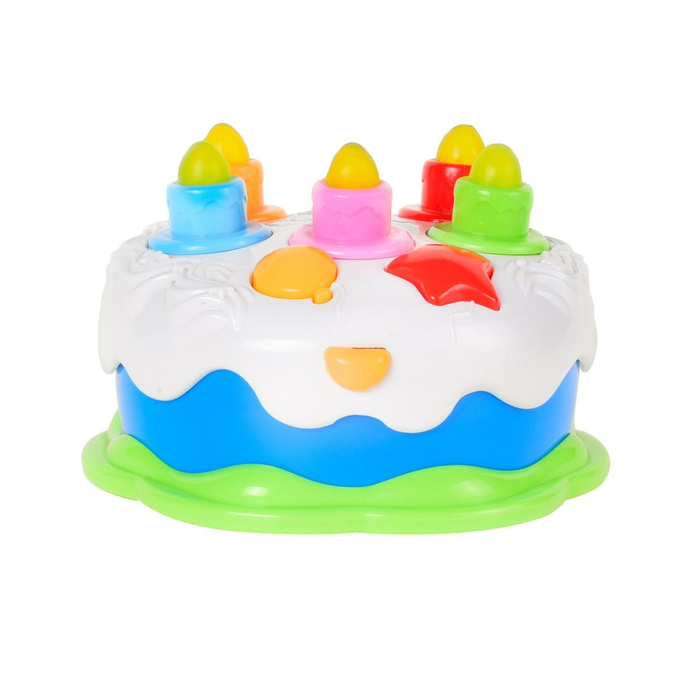 Baoli Blowing Candles Birthday Cake Toy Food Play Set For Kids Children Baby