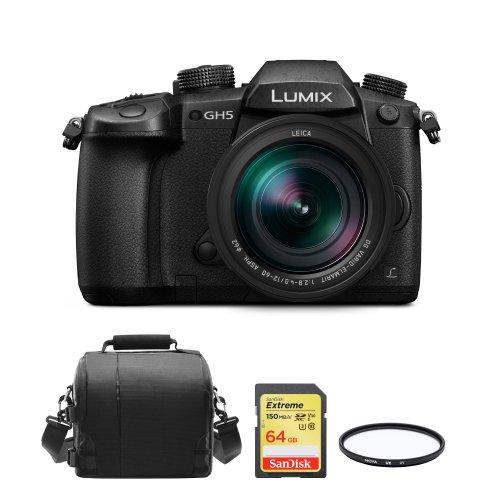 PANASONIC DMC-GH5 Black KIT 12-60mm Black+64GB SD card+Bag+62mm Filter