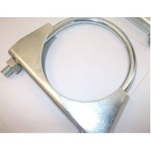 universal exhaust u clamp heavy duty TV aerial pipe hose 28mm x 2, Pack Of 2