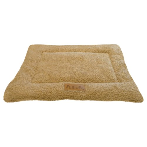 Ellie-Bo Sherpa Fleece Mat Bed in Beige - Fits Ellie-Bo Small 24 Inch Cages and Crates