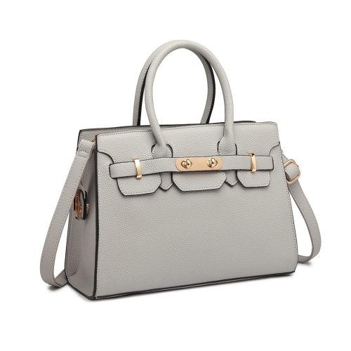 Miss Lulu Women Pebbled Leather Handbag Shoulder Bag