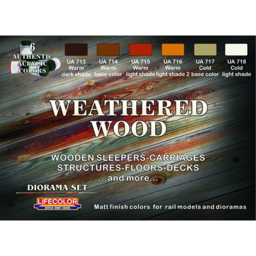 LifeColor Weathered Wood set (22ml x 6)