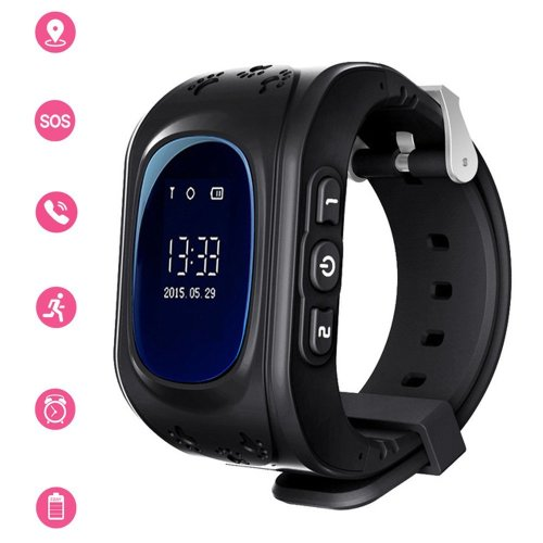 Kids Smartwatch GPS Tracker Anti-Lost Wrist SIM SOS Call Voice Chat Phone Pedometer by Parent Control IOS Android Smartphone App (Palmtalkhome Q50)...