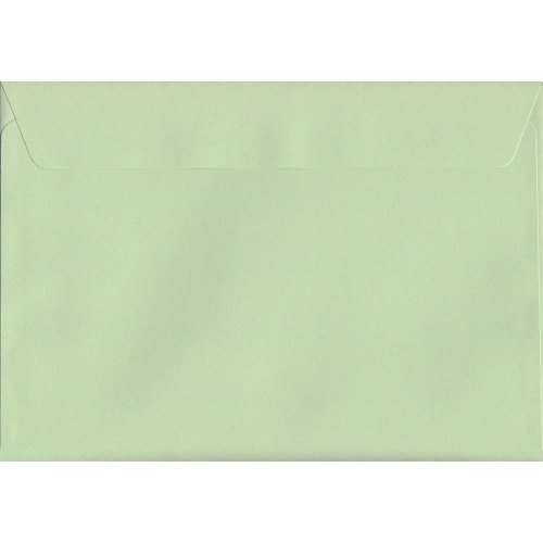 Spearmint Green Peel/Seal C5/A5 Coloured Green Envelopes. 120gsm Luxury FSC Certified Paper. 162mm x 229mm. Wallet Style Envelope.