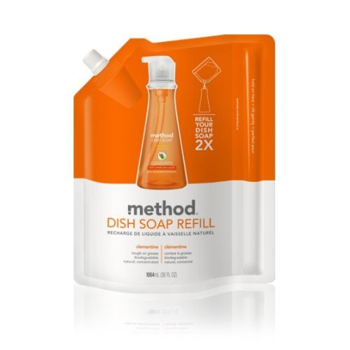 Method  Washing Up Liquid Refill - Clementine 1.064Ltr