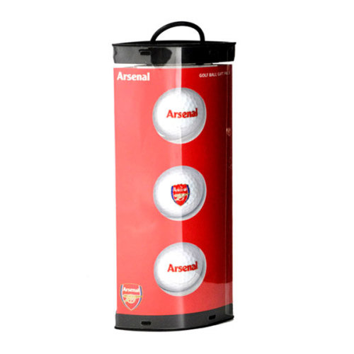 Arsenal Fc 3 Pack Golf Ball Gift Set - Foot Official Balls Club Crest -  golf football arsenal official balls club gift 3 pack fc crest