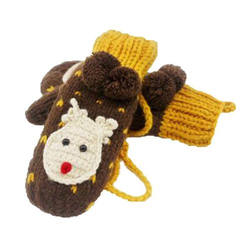 Winter Warm Gloves Cute Stlylish Girls Ladies Wool Gloves Female  Fashion Hand-K