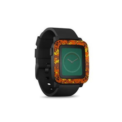DecalGirl PSWT-DIGIOCAMO Pebble Time Smart Watch Skin - Digital Orange Camo