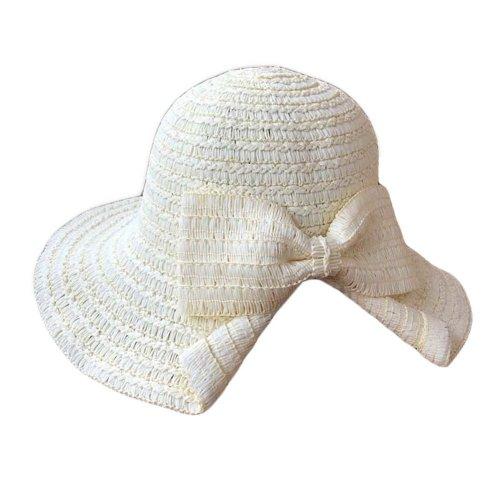 8951d1d9428 Women s Bowknot Straw Hats Foldable Bucket Hat Beach Hat Wide Brim Hat Sun  Hat on OnBuy