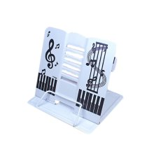Creative Book Stand Reading Holders Bookends Book Racks, Music White