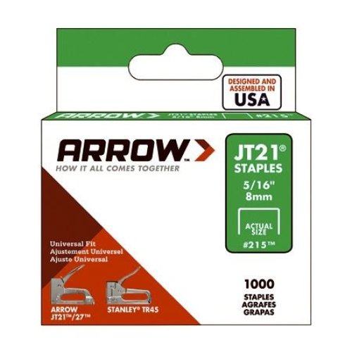 Arrow Staples Jt21 5/16in - 8mm (Box of 1000)