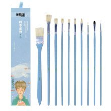 10 Pieces Paint Brushes Set Artist Paint Brushes Painting Supplies #06