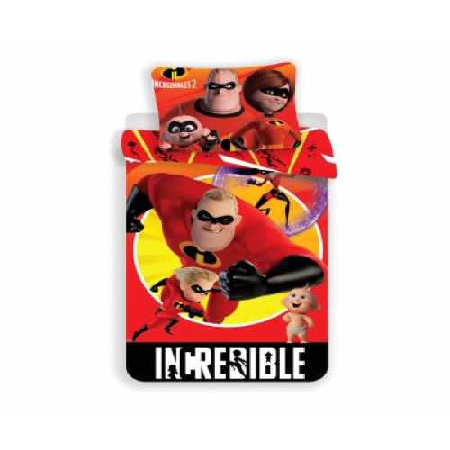 Disney Incredibles Childrens Duvet Cover and Pillowcase Set