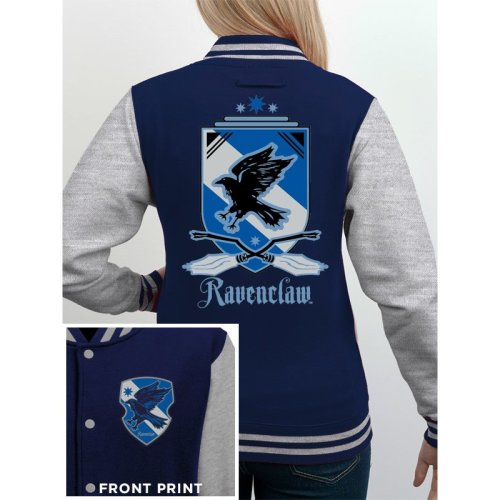 Medium Grey Harry Potter Ravenclaw Hoodie - Official Baseball Varsity Jacket -  official harry potter baseball varsity jacket house ravenclaw unisex